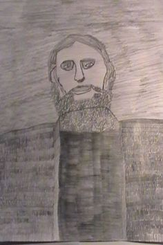 Jesse Ilmari Eronen's drawing of Grigori Rasputin.