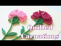 How to Make Quilled Paper Carnations Quilling Instructions, Quilling Tutorial, Quilling Craft, Quilling Designs, Paper Quilling, Paper Art, Paper Crafts, Pink Carnations, 3d Cards