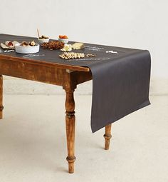 Anthropologie Chalkboard Table Runner Includes Six Pieces Of Chalk