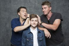 "'Pan' From left, Joe Wright, Levi Miller and Gerrett Hedlund of ""Pan."" http://www.latimes.com/entertainment/herocomplex/la-et-hc-comic-con-2015-photobooth-20150709-037-photo.html"