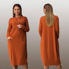 1767bd409b68a Modern Long Sleeve Loose Plus Size Casual Dress
