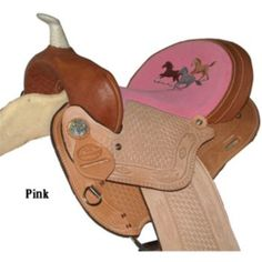 Special Offers Available Click Image Above: Hh Saddlery Running Horse Barrel Saddle 14 Pnk/pur