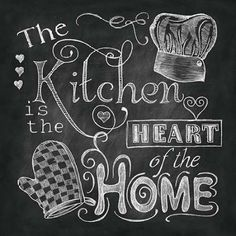 chalkboard kitchen Dona Knold
