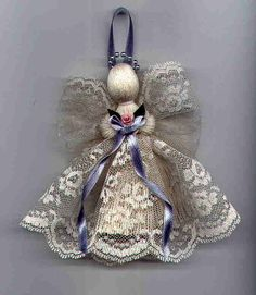 Victorian Handmade Lace Angel – johnnyappleseedhomeandyard