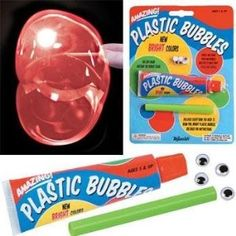 Plastic Bubbles.  I found these and bought them for my granddaughter's Christmas.