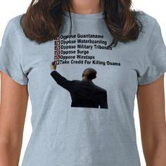 Anti Obama Osama Hypocrite T Shirt