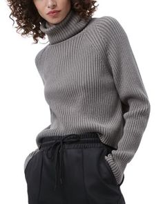 Turtleneck Outfit, Grey Turtleneck, French Connection, Pantone, Sweaters For Women, Outfit Ideas, Turtle Neck, Cold, Gray