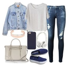 """""""Untitled#1292"""" by mihai-theodora ❤ liked on Polyvore featuring Keds, AG Adriano Goldschmied, Levi's, Clu, Beats by Dr. Dre, Tory Burch, Rebecca Minkoff and Leith"""