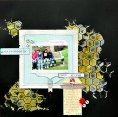 """""""Happiness Is"""" Layout with The Sweetest Thing by MME   Jenallyson - The Project Girl - Fun Easy Craft Projects including Home Improvement and Decorating - For Women and Moms"""