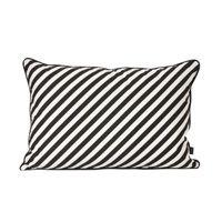 Kudde Black Stripe 40x60 cm svart/vit