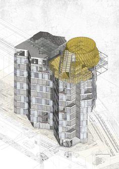 drawingarchitecture:  Gosia Malus, 'Shoreditch Collective',...