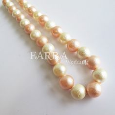 Light yellow & light orange color mixed necklace by FARRAwedding, $48.00  FARRAwedding.etsy.com