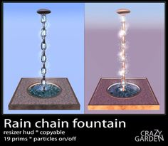 Rain chain fountain
