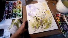 Ginette paints a watercolor and ink Chamomile on Vimeo