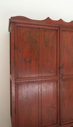 Early 20th Century Mexican Painted Pine Armoire
