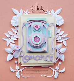 This is a paper illustration I did for Click Magazine, a photography magazine for women in USA. They wanted something sweet that related to both romance and photography.