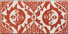 I'm enjoying these images of tile and wallpaper by designer Peggy Angus. Such an inspiring life lived through art. Pottery Marks, Surface Pattern Design, Happy Weekend, Graphic Design Illustration, Creative Inspiration, Illustrators, Printing On Fabric, Medieval, Print Patterns
