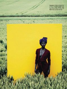 Stunning use of color in this Vogue Deutsch's September editorial.  Photos by Julia Noni.  Model is Jeneil Williams.