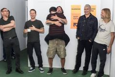 I want to be the guy on Dave!   Lucky fan meeting FF in Argentina, Jan 20, 2015. Dave Grohl  Foo Fighters