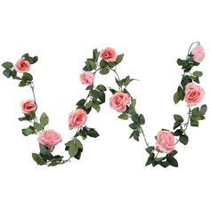 Houda Vintage Artificial Fake Silk Flowers Rose Garland Plant Vine... ($33) ❤ liked on Polyvore featuring home, home decor, floral decor, artificial floral arrangement, fake bouquet, silk rose bouquet, faux floral arrangement and faux florals