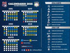 """Este es nuestro calendario oficial para la temporada 2015, tu ya estas listo para gritar """"Poonchalo Ponchalo ponchaloo""""?"""