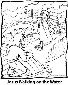 Find This Pin And More On Coloring Pages The Beginners Bible 1989 Miracles Of Jesus Page