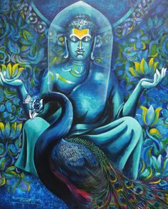 . Lotus Painting, Buddha Painting, Watercolor Paintings, Buddha Buddhism, Buddha Art, Buddha Peace, Buddha Quote, Zen Meditation, Indian Art Paintings