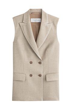 MAX MARA Double Breasted Wool Vest. #maxmara #cloth #blazer