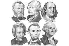 Engravings Portraits Six Presidents Us Dollar Stock Photo (Edit Now) 150373466 : Stock Image: Business/Finance Presidents On Money, Washington Tattoo, Money Template, Bill Template, Card Templates, Printable Play Money, Dollar Usa, Dollar Money, Art