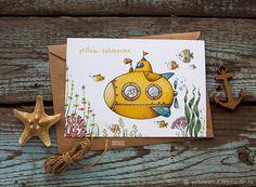 открытка Желтая подводная лодка - Наташа Гончарова (yellow wind) - Ярмарка Мастеров http://www.livemaster.ru/item/22370475-otkrytki-otkrytka-zheltaya-podvodnaya-lodka