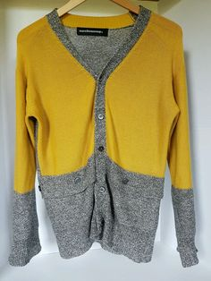 Mercibeaucoup Japan Mens Linen Yellow Grey Knitted Cardigan Medium | Clothing, Shoes & Accessories, Women's Clothing, Sweaters | eBay!