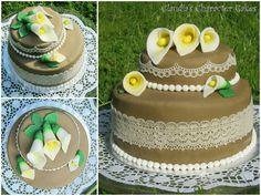 Geburtstagstorte mit Callas und Spitze | Birthday Cake with Callas and Lace