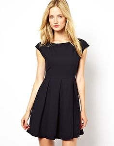 Mademoiselle Tara Dress with Full Skirt and Zip Back