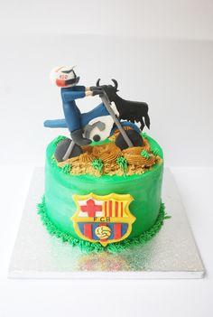 Motocross cake. Tarta motrocross. Barsa.