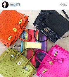 Hermes is a brand known for its quality leathers but another factor that makes Hermes stand out is the brand's impeccable attention to vibrant, rich colors. Fendi, Gucci, Hermes Handbags, Hermes Birkin, Luxury Branding, Burberry, Valentino, Dior, Cute Outfits