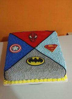 Avengers Birthday Cakes, Superhero Birthday Cake, 4th Birthday Cakes, Star Wars Birthday, Ironman Cake, Sports Themed Cakes, Superhero Baby Shower, Avenger Cake, Marvel Cake