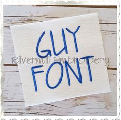 Guy Machine Embroidery Font Alphabet  This set comes with upper case letters in 3 sizes:  3 Inch Alphabet - Satin Stitch 2 Inch Alphabet - Satin Stitch 1 Inch Alphabet - Satin Stitch  Numbers 0-9 are also included in each size.