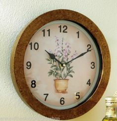Herb Garden Decorative Wall Clock | eBay $27.59 ... may end up with this one ...