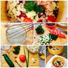 Una ensalada veraniega y vegetariana de quinoa  frijoles!! #recetas #ensalada #quinoa #vegetariana #cocinasaludable