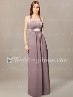 Chiffon Halter Bridal Party Gown with Empire Waist BR005