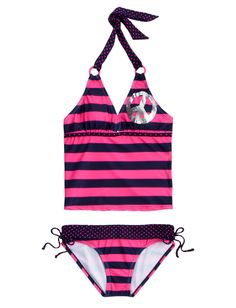 Girls Clothing | Tankinis | Peace And Stripes Tankini Swimsuit | Shop Justice