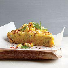 Corn Frittata with Pecorino-Romano Cheese | CookingLight.com #myplate #veggies