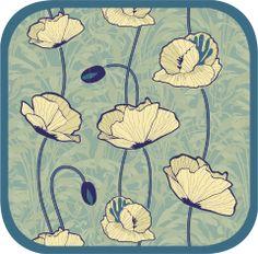 """Bluebird Poppy"" pattern by Luna Rosa, via COLOURlovers"