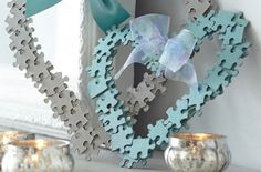 Simple and stylish, this craft is a great way to pass an hour or two with your kids. They'll love getting a bit messy with the glue and puzzle pieces and you'll love their finished projects, perfect for hanging from windows or mirrors.