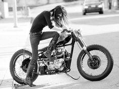 She's rad. The bike too;)