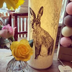 Hare Parchment Lamp - Nora's Shop Ilkley, Yorkshire UK Easter