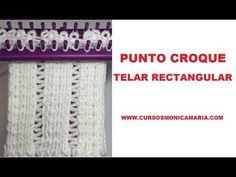 PUNTO CROQUE TELAR RECTANGULAR // Tutorial Puntos Basicos Telar Maya