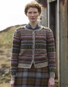 Ravelry: Unst pattern by Marie Wallin Fair Isle Knitting Patterns, Fair Isle Pattern, Sweater Knitting Patterns, Cardigan Pattern, Free Knitting, Knit Cardigan, Sock Knitting, Vintage Knitting, Double Knitting
