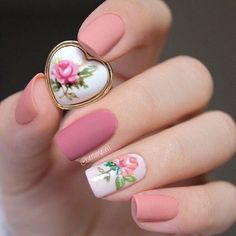 Nail art shared by 𝓈𝒶𝓂𝒶𝓃𝓉𝒽𝒶 𝓈𝑒𝓇𝑒𝓃𝒶 ✰ on We Heart It Cute Nails, Pretty Nails, Hair And Nails, My Nails, Couleur Rose Pastel, Beautiful Nail Designs, Beautiful Images, Flower Nails, Creative Nails