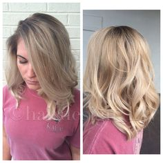 #cool #rooted #balayage #blonde #lob : Instagram - @hairdesign_LW